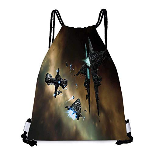 Durable Drawstring Backpack eve online gallente hyperion spaceships vehicles myrmidon Suitable for carrying around W17.3 x L13.4 Inch