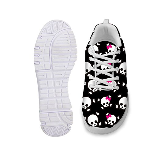 Bigcardesigns Noir Zombie Léger Casual Maille Sport Sneakers Chaussures 44