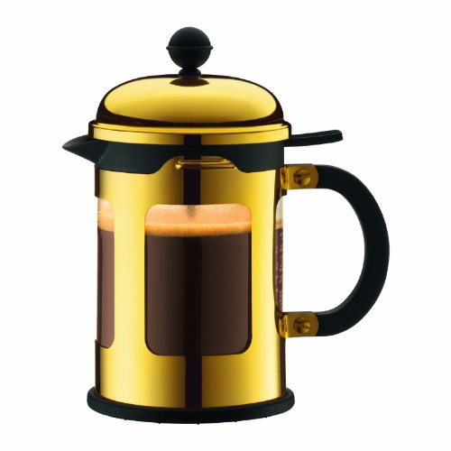 Bodum Chambord 4-Cup French Press Coffee Maker, Gold Chrome, 17-Oz.