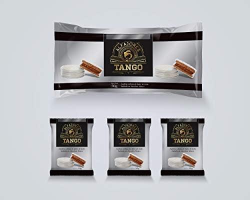 Alfajores de Chocolate rellenos de Dulce de Leche (Pack de 12 Negro)