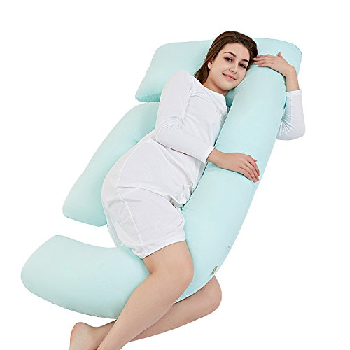 Pregnant pillow pillow pillow / side pillow / care belly U-pillow / multi-function waist pillow / sleeping side pillow ( Color : Green ) by Pregnant women pillow