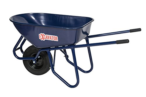 Seymour 85731 Excavator 6 Cu.'. Wheelbarrow, Steel Tray and Handles, Flat-Free Knobby (Knobby Wheelbarrow)
