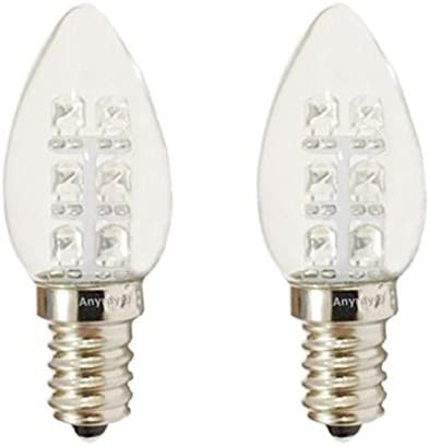 2-Bulbs A-C7E12LWW C7 LED Night Light bulb 120V E12  0.5Watt Warm White Anyray