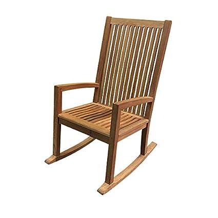 Super Amazon Com Atlanta Teak Furniture Teak High Back Rocking Download Free Architecture Designs Xerocsunscenecom