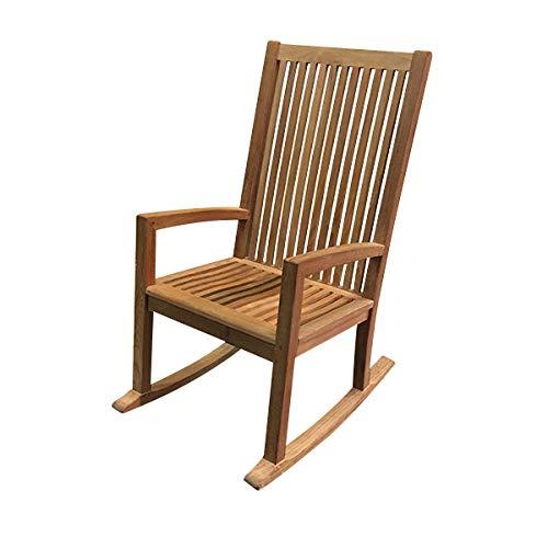 Atlanta Teak Furniture - Teak High-Back Rocking Chair - Grade-A (Teak Atlanta)