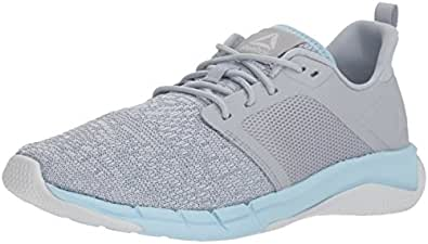 Reebok Women's Print Run 3.0 Shoe, Cloud Grey/Spirit White/d, 5 M US