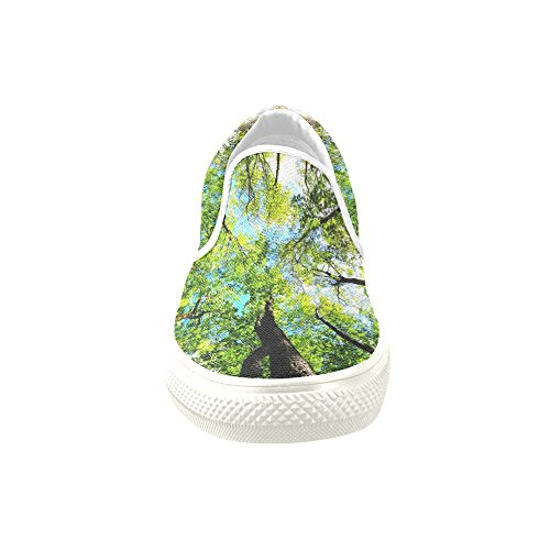 D-Story Custom Sneaker Summer Trees Forest Women Unusual Slip-on Canvas Shoes BJCrD4