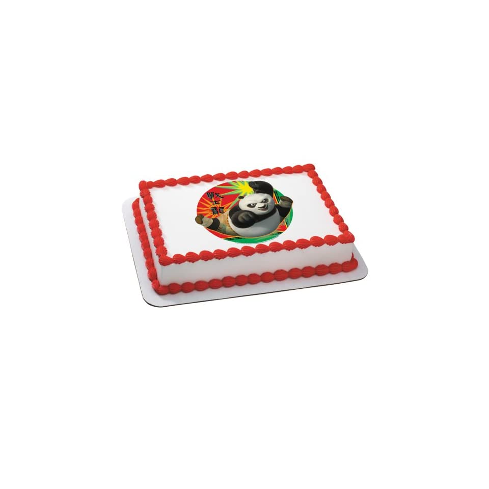 Lets Party By Deco Pac Kung Fu Panda 2   Karate Po Edible Icing Cake Topper