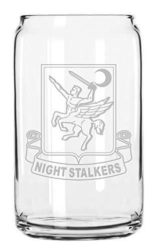 US Army - 160th Special Operations Aviation Regiment - SOAR DUI Patch Etched Can Glass 16oz - Dui Patch Military