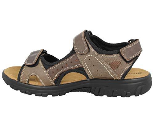 mit sandalen und riemen gepolsterte kreuz leder innensohle oben vorne Hautfarben klettverschluss herren 8qwIFtx