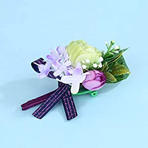 Febou Wedding Wrist Corsage Boutonniere for Bride Bridemaids 4