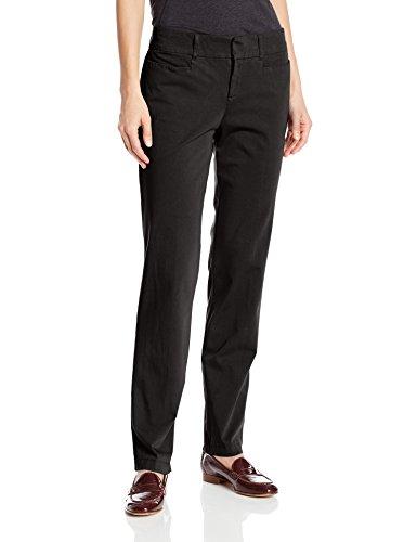 Dockers Women's Ideal Straight Leg Trouser Pant, Black, 12x32/Medium