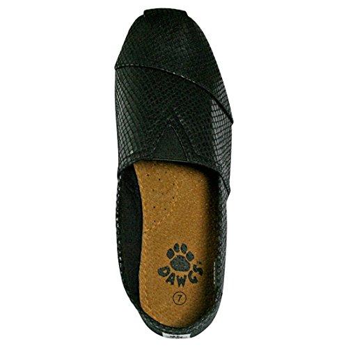 DAWGS Kaymann Women's Exotic Loafer Snake Print in Black