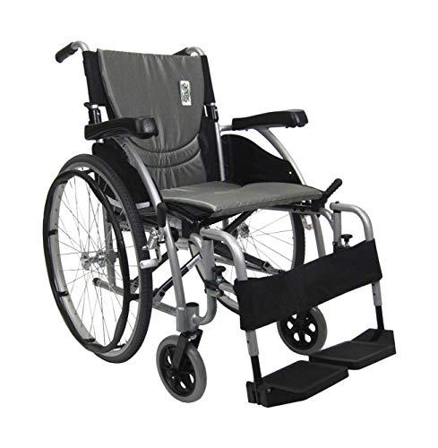Karman-Healthcare-S-Ergo-115-18-Seat-Width-Ultra-Lightweight-Ergonomic-Wheelchair-Quick-Release-Wheels-25-lbs-in-Pearl-Silver