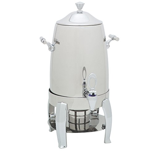 Table Top King 609723 Aspen 3 Gallon Stainless Steel Chafer Beverage Urn