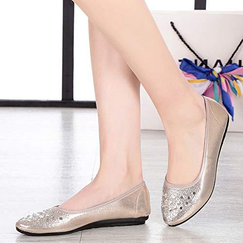 Pompes Beige Plates Travail Chaussures De Ballerines 64U1qwxH