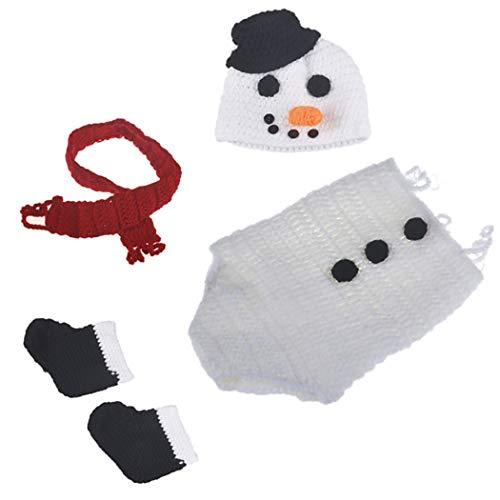 Aniwon 4PCS Baby Photography Prop Set Snowman Photo Prop Outfits Infant -