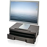 ZH-82510Monitor Stand with Drawer, Black