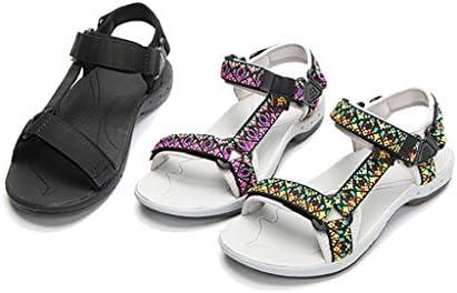 Women's Outdoor Sandalen, Aan Te Passen Draagriem, Comfortabel Zomersport Sandalen, Platte Bodem Hiking Waden Schoenen,Black,39