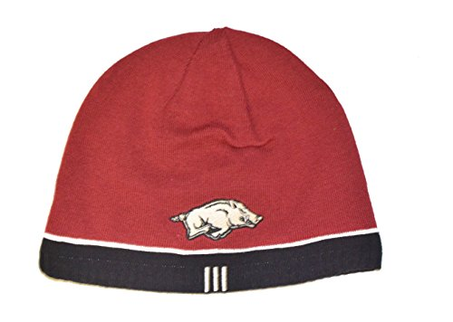 Arkansas Razorbacks Reversible Skull Cap - NCAA Cuffless Winter Knit Beanie Toque Cap