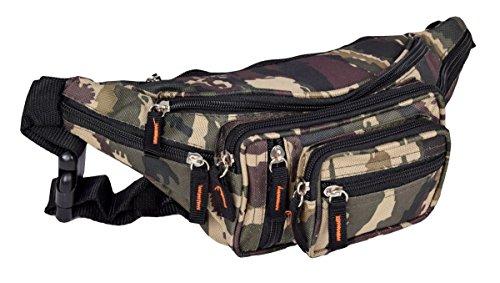 Sport Gürteltasche und Bauchtasche Outdoor Hüfttasche in Army Camouflage Muster 30×15 cm
