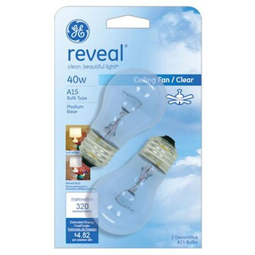 ge 40w reveal bulbs - 5
