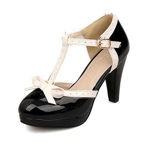Womens Small Bowtie Platform Pumps Ladies Sexy High Heeled Shoes US 7 buBUGTR5DJ