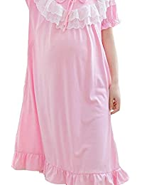 YAN Maternity Nursing Nightdress for Breastfeeding Nightgowns Pajamas for Women