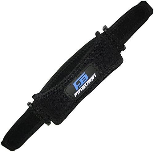 FinBurst Patella Bandage für Knie – Patella Sehnenbandage aus Höchster Qualität – Ideal für Sprungsport, Laufsport und Kniebeugen (1 Stück)