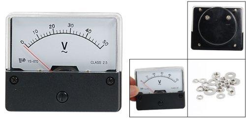 eDealMax AC 0-50V YS-670 Classe 2.5 Précision Analog Panel Meter Tension by eDealMax