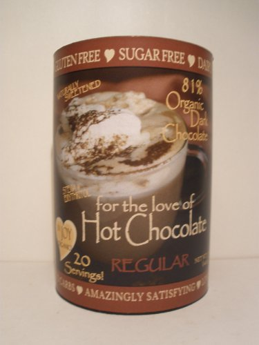 InJoy Organics, Sugar Free, Organic, Dark Chocolate, Dairy Free, Gluten Free, Hot Chocolate, 20 Servings