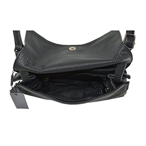en Dollar en Cm Lookat PU Noir Femmes épaule 17x20x12 d'embrayage Imprimer cuir wq1nCXYZ