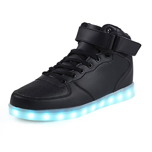 SAGUARO(TM) 8 Colors LED Light-Up Couple Women's Men's Sport Shoes Sneakers USB Charging for Valentine's Day Christmas Halloween