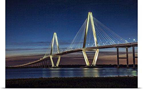 Arthur Ravenel Bridge (Scott Stulberg Poster Print entitled Arthur Ravenel Jr. Bridge crossing the Cooper River at twilight)