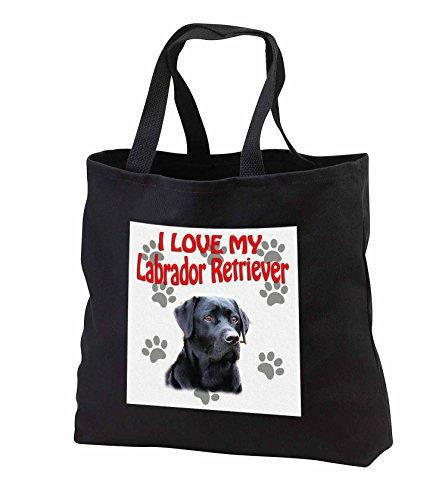 Retriever Tote Bag (RinaPiro - Dogs Quotes - I Love my Labrador Retriever. Canvas. Cute dog. - Tote Bags - Black Tote Bag JUMBO 20w x 15h x 5d (tb_251968_3))