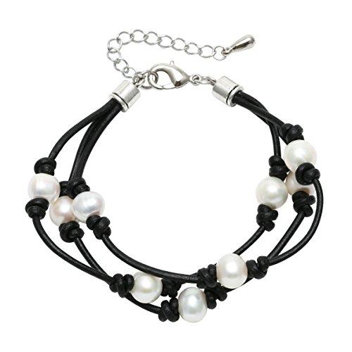 Pearl Beaded Wrap Bracelet - 9