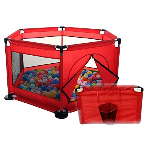 Hoop Diagonal (Red Playpens Baby Safety Hexagon Basketball Hoop Portable Play Yard Indoors Outdoors Removable)
