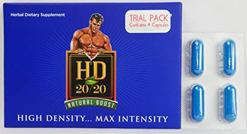 HD 2020 NEWLY REFORMULATED 2018 POWERFUL NATURAL MALE BOOSTER. Trial Pack (4) Capsules.by the makers of Schwinnng (Male Enhancement Pill Performance)