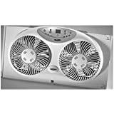 JARDEN Bionaire 9 3-speed Electronic Twin Window Fan with Remote / BW2300-X /