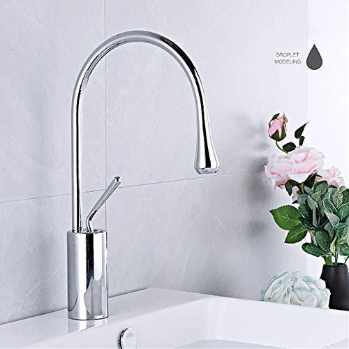 Modern basin faucet black silver basin mixer faucet kitchen bathroom faucet single lever faucet black basin mixer (Color : Chrome low)