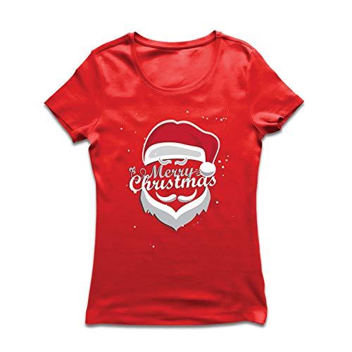 Città me Sta Rosso Lepni Babbo Maglietta In Multicolore Buon Arrivando Donna Natale Natale BqaxO