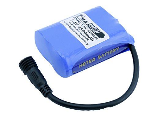 Liion Battery Pack 26650 2S1P 7.4V 4500Mah For Led Bike Light Ht by Battery Recharger