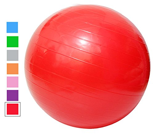 Acefit Anti-burst-and-slip Resistant Fitness Balance Exercise and Stability Ball with Pump Yoga Ball (75 Mm Ball Base)