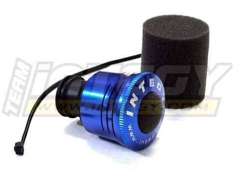 (Integy RC Model Hop-ups C22473BLUE High Flow Air Filter Type III 15-28 Size Nitro Engine)