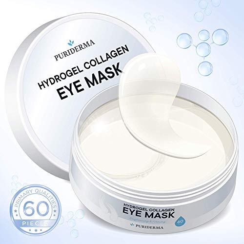 Hydrogel Collagen Eye Mask by Puriderma - Collagen Anti-Aging Under Eye Patches, Reduce Wrinkles, Fine Lines, Puffiness, Crow