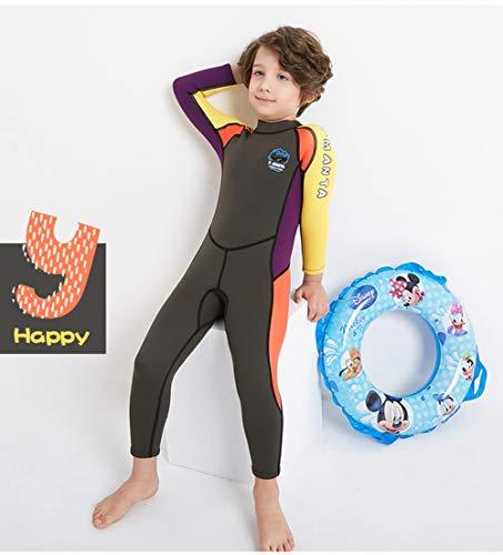 3cb9775388 Neoprene Kids Wetsuit for Boys Girls 2.5MM One Piece Full Body Long Sleeve  Swimsuit