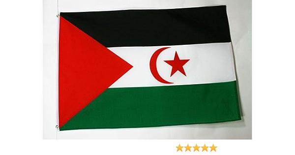 AZ FLAG Bandera de Sahara Occidental 90x60cm - Bandera REPÚBLICA ÁRABE SAHARAUI DEMOCRÁTICA 60 x 90 cm: Amazon.es: Jardín