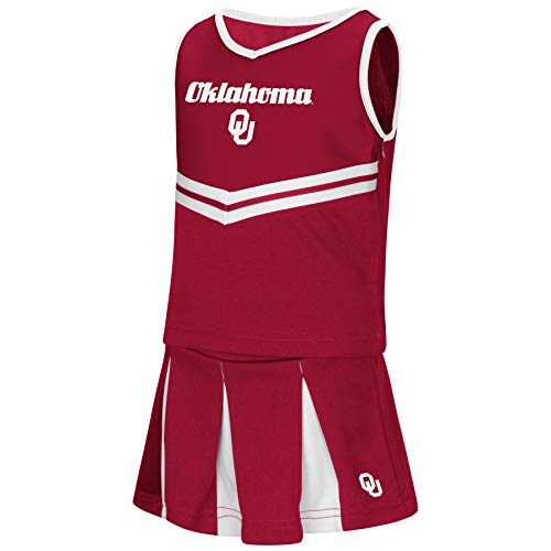 (Colosseum NCAA Toddler-Girls Team Cheer Set-Oklahoma Sooners-4T)