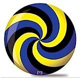 Brunswick Spiral Viz A Ball Bowling Ball- Black/Blue/Yellow
