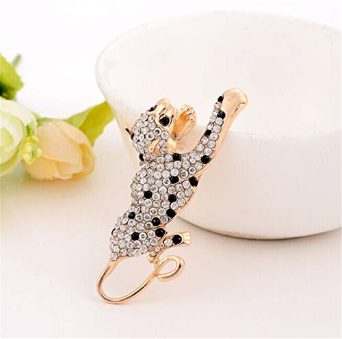 Elegant Peacock Butterfly Rhinestone Brooch Pin Bee Leopard Music Note Simulated Pearl Brooches 8